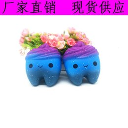 Yiwu star online shopping - Squishy star tooth squishies Slow Rising Soft Squeeze Cute Cell Phone Strap gift Stress children toys Decompression Toy