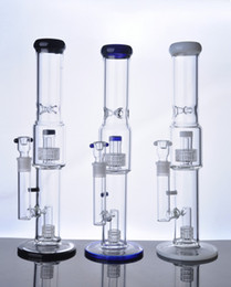 rocket bongs NZ - New Arrival Colorful Straight Glass Bong Thickness Base Hookah Vapor Rocket Water Pipe Birdcage Hookah Cheap Glass Bongs