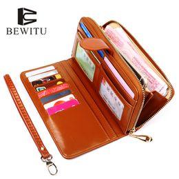red hot wallet 2019 - BEWITU Hot Sale Women Clutch 2018 New Wallet Split Wallet Female Long Women Zipper Purse Strap Coin Purse For Phone disc