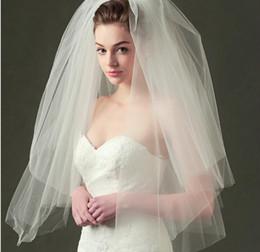 Hot Veils Australia - New Arrival Wedding Veils White Ivory Bridal Veil with Comb Soft Tulle Wedding Accessories Veu De Noiva 2019 Hot Sale