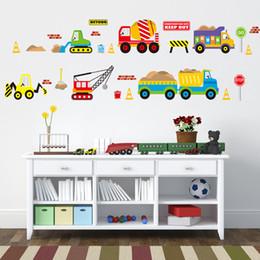 3d Cars Wall Sticker NZ - Cartoon cars kids wall sticker for kids room baby bedroom wall decals window poster 3D car