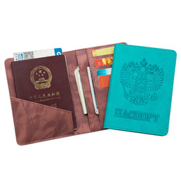 $enCountryForm.capitalKeyWord NZ - Russian sky blue original double-headed PU letters national Passport Cover Built in RFID Blocking Protect personal information