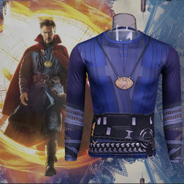 Movie Tees Canada - 2016 Movie Doctor Strange Costume Cosplay T-Shirt Stephen Vincent Tee Necklace Shirt Halloween Party Cosplay Costume