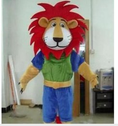 $enCountryForm.capitalKeyWord Australia - drop shipping Fire Red Manes Athlete Lion Animal Mascot Costumes Halloween Costume Cartoon Suit Fancy Dress Outfit