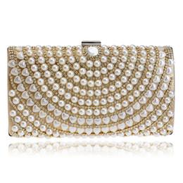 $enCountryForm.capitalKeyWord Canada - Beaded Clutch Women Evening Bag Chain Shoulder Messenger Purse Crystal Pearl Diamonds Day Clutch Handbags Gold silver black