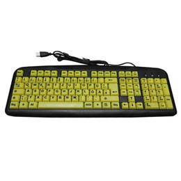 Yellow Gaming Laptop Australia - KL-311 USB Wired Yellow Keys Gaming Keyboard German Multimedia keys germany keyboard for Laptop Desktop PC