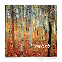 $enCountryForm.capitalKeyWord Australia - hand-painted on canvas oil painting reproduction of famous artist gustave klimt canvas art forest of beech trees canvas set decoration paint