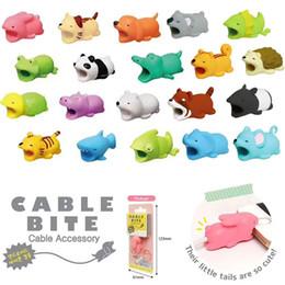 Cable Bite Charger Protector de cable Cubierta protectora para iPhone Lightning Diseño animal lindo Cable de carga protectora