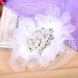 ac391b5643d Diamond Hair Clip Claws Australia - The beautiful bride bride headdress  handmade lace yarn pearl diamond