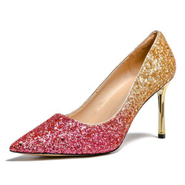 cf55bbe966aff Big Size 34-43 Women Wedding Shoes Pumps High heel Escarpins Femme 2018  Ladies Shoes Sexy Summer Women Pumps Wedding Bridal Shoes Lady Heels
