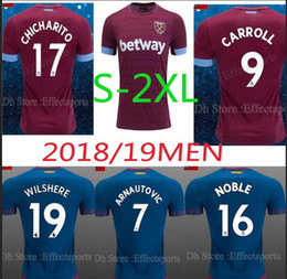 2018 2019 West Ham United Home Away 3AAA+++ Thai Quality Soccer Jersey 18 19  Arnautovic Yarmolenko NOBLE Wilshere LANZINI Football Shirts 5796422a9