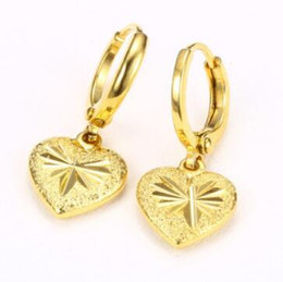 $enCountryForm.capitalKeyWord NZ - luxury jewerly women earrings gold color heart wedding jewelry classic hot fashion wholesale free of shipping
