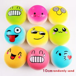 Discount squishy keychain wholesale - 10CM Kawaii Cake Squeeze Emotion Emoji Squishy Slow Rising Stretchy Charm Cute Pendant Bread Kid Toy Strap keychain