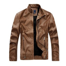 Wholesale men lether jackets for sale - Group buy Motorcycle Men Pu Lether Jackets Masculinas New Fashion Inverno Jaquetas De Couro Winter Warm Fleece Leather Jacket Outwear