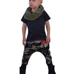 e480ba5a1c3d Hot Sale Clothing Children Summer Kid Infant Baby Letter Solid Tops  Camouflage Flower Pants Outfits Clothes Set dropshipping