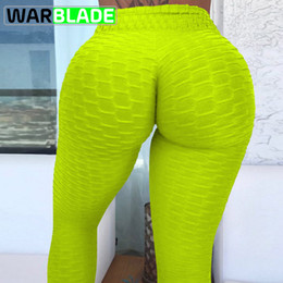 Womens White Yoga Pants NZ - 2018 New Arrivals Yoga Pants Womens Ruched Butt Leggings Push High Waist Workout Sport Tights Running Trousers Women Gym Pants