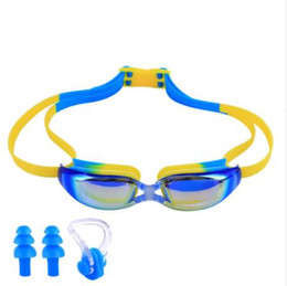 ed8aa8fe1a UV Protection Waterproof Kids Swim Goggles Anti-fog Lights Lens Silicone  Frame Child Swimming Goggles Pool Accessories Glasses