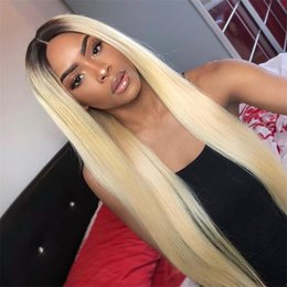 $enCountryForm.capitalKeyWord Australia - Brazilian Lace Front Wigs 1b 613 Blond Human Hair Lace Wigs for Black Women Medium Cap 130% Density Silky Straight