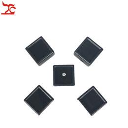 $enCountryForm.capitalKeyWord NZ - 5Pcs Plastic Loose Diamond Display Package Box Square Gem Stone Case Memory Foam Pad Diamond Storage Box 3*3*2cm