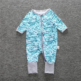 $enCountryForm.capitalKeyWord Australia - light blue Free shipping Newborn Boy Girl Coverall Spring Autumn Cotton Floral Jumpsuit Baby Long Sleeve Zipped Kids Clothes Baby Romper