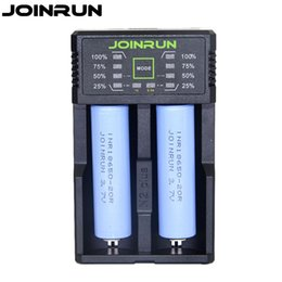 $enCountryForm.capitalKeyWord NZ - 100% Joinrun N2 Plus 18650 battery charger with 2PCS 2000mah battery for Ni-MH Lithium Battery charger Power Bank Function