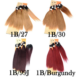 $enCountryForm.capitalKeyWord NZ - 2018 New Hairstyle For Black Women Straight Brazilian Ombre Human Hair Weave 3 Bundles With Hair Whorl Top Lace Closure 190-235g Lot
