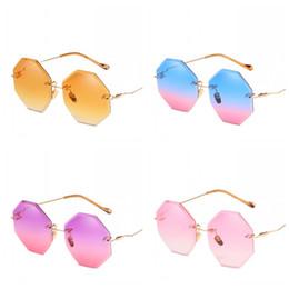 Vision alloy online shopping - Candy Color Women Ladies Sunglasses Luxury Brand Designer Frameless Sun Glasses UV400 Outdoor Clear Vision Eyeglasses Hot Sale fd Z