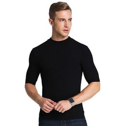 Sleep Slim online shopping - Autumn thread solid shirt men Close fitting tank tops Korean Slim traceless sleep tops Sexy mens bottoming shirt homewear