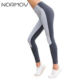 Yoga Pants Female Canada - NORMOV Running Yoga Pants Women High Waist Push Up Pants Tights Female Workout Fitness Clothing Training Yoga Leggings 2 Color