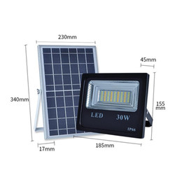 Remote contRolled outdooR lights online shopping - Remote control Solar power lights outdoor W W W W light induction garden LED floodlights waterproof White double color