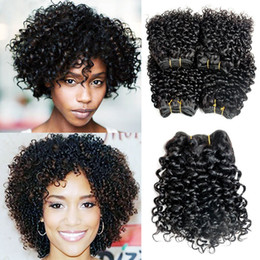 Discount Short Curly Hair Weave Short Curly Human Hair Weave 2019