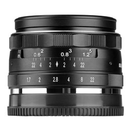 Wholesale MK E mm F1 Large Aperture Manual Prime Fixed Lens APS C for Sony E Mount Digital Mirrorless Cameras NEX N T NEX