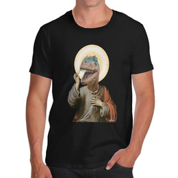 Custom Print T Shirt Cheap Australia - Print T Shirts T Shirt Printed O-Neck Short-Sleeve Mens Raptor Jesus Organic Tee T Shirt Cheap Clothes Cotton Plus Size Short Sleeve Custom
