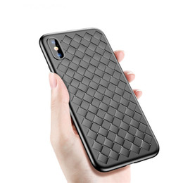 ThinnesT cell phone online shopping - Knit Leather Lines Cell Phone Case Woven Texture Slim Ultra thin TPU Fashion Back Cover For Iphone X XS XR MAX