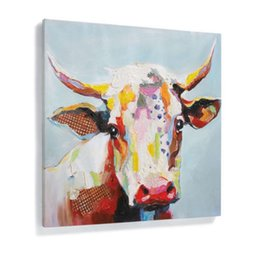 $enCountryForm.capitalKeyWord Australia - Large Abstract Animal Cattle HandPainted  HD Print Modern Wall Art Oil Painting Home Decor On Canvas.Multi sizes  frame Options A117