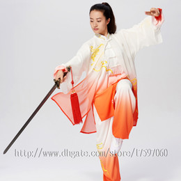 Martial Suit Australia - Chinese Tai chi clothes taiji sword garment Kungfu outfit performance suit Embroidery Clothing for women men children boy girl kids adults