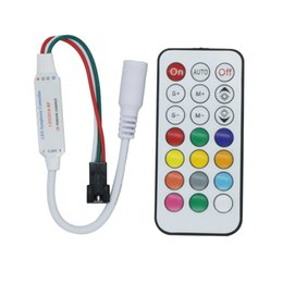 pixel strips Australia - IR RF 14key 21key Mini LED Pixel Strip Light LED Controller for WS2811 SK6812 WS2812B 1903 with Remote Controller