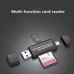 internal multi card readers NZ - All-in-one multi-function memory card reader MINI USB 2.0 OTG Micro SD TF card reader for PC, laptop, mobile phone black and white