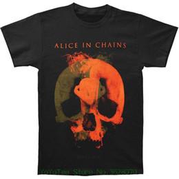 $enCountryForm.capitalKeyWord NZ - Print Tee Men Short Sleeve Clothing Alice In Chains Men' S Fetal 2014 Tour T-shirt Black