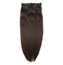 $enCountryForm.capitalKeyWord UK - 14inch-24inch Cheap Remy Indian Clip in Human Hair Extensions 100g 120g 140g Full Head Clip ins Many Colors Available