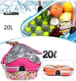 Sacchetto esterno pic-nic sacchetto di barbecue cesto pieghevole sacchetto di isolamento scatola di alimenti per auto cestino di ghiaccio fresco picnic per il campeggio KKA5036