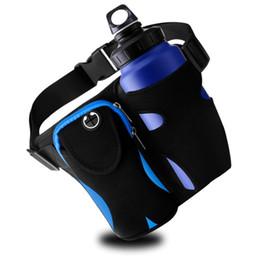 Discount run holder phone - Jeebel Running Belt Adjustable Waist Pack with Bottle Holder Waterproof Phone Bag Outdoor Climbing Hiking Sports Pouch J