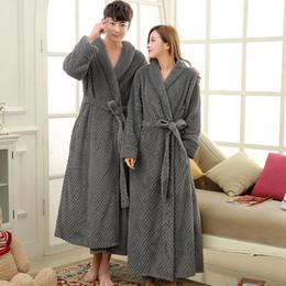 07e5365b45 Mens Extra Long Thick Warm Winter Bathrobe Silk Soft Waffle Flannel Bath  Robe Men Kimono Robes Full Sleeve Male Dressing Gown