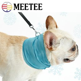 ice neck towel UK - Safe Without Irritation Pet Summer Cold Neck Scarf Fighting Cattle Dog Cat Cool Collar Scarf Ice Towel
