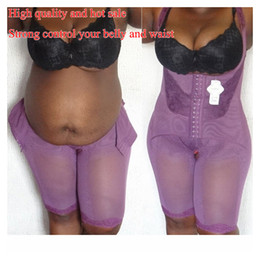 Wholesale plus size shapewear resale online - Plus Size Full Body Tummy Control Waist Trainer Women Underbust body Trainer Slimming Shapewear shape control With Seamless Lace