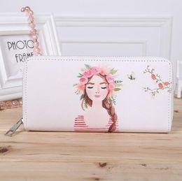 $enCountryForm.capitalKeyWord Canada - 2018 red lips Printing Women Summer Long Wallet PU Leather Phone Pocket Ladies Card Holder Bag Girls Zipper Coin Purse