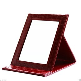 Wholesale Tabletop Portable Folding Standing Mirrors Travel Vanity Makeup Mirrors Square