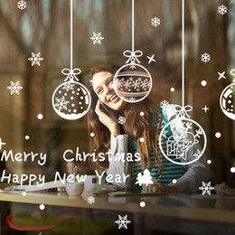 christmas window stickers for shops 2019 - 2019 New Year Merry Christmas Decorations for Home Glass Window Shop Window Christmas Decoration Sticker Navidad Natal