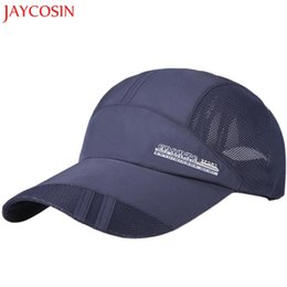 fb5571af JAYCOSIN Adult Mesh Hat Quick-Dry Collapsible Sun Hat Outdoor Sunscreen  Baseball Cap z0813