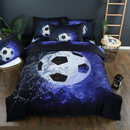 sports bedding sets NZ - World Cup 3D Football Bedding Set Blue Color HD Print Sports Duvet Cover Set Pillowcases Twin Queen King Size 3pcs Beddings